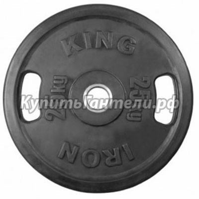 Блин обрезиненный Евро-Классик 25 кг (d51) с хватами